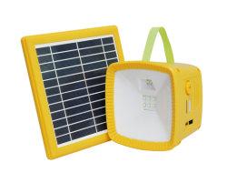 Multifuncional Solar cargador de móvil de radio FM Linterna de camping