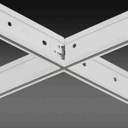 O forro falso plano barra em T no teto de componentes de grade para o forro acústico