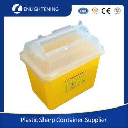 Boîtes jetables de collecte de déchets pointus médicaux en plastique