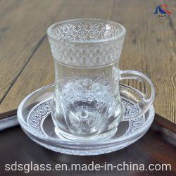 터키 차잔 & 접시 주문품 명확한 유리제 찻잔 세트