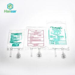 CE ISO بلاستيك معقم IV انصهار PVC طبي IV حقيبة ذات سدادة برغي