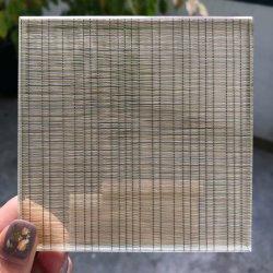 Vidrio laminado templado decorativos personalizados de alambre tejido interior de la película EVA térmico templado vidrio laminado