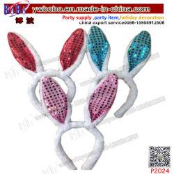 Orejas de conejo ornamento de cabello pelo diadema lazo regalos de cumpleaños Decoración Navideña (P2024)