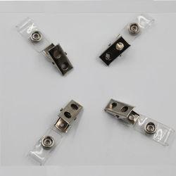 PVCプラスチックストラップおよび金属のワニ口クリップが付いている中国のブルドッグIDのバッジクリップ