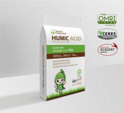 Omri énumérés d'acide humique 100 % de l'eau d'engrais organique soluble / / Paillettes granulaire