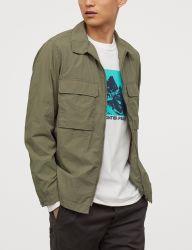 Kundenspezifische Form-lange Großhandelshülsen-beiläufige Hemden für Mann-Hip Hop-Hemden 100%Cotton