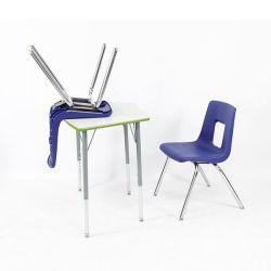 Los niños baratos moderno Aula solo estudiante estudio conjunto de escritorio y silla