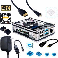 Câble HDMI Adaptateur USB-C Pi 4 alimentation électrique de framboise avec ventilateur