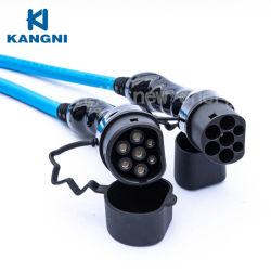 Groothandel CE TUV-gecertificeerde Single connectors 2 Elektrische auto-auto's 3-fasig 32A 22 20 kw vermogen drie Cream AC-punt Kabel voor de draagbare EV-batterijlader voor thuis