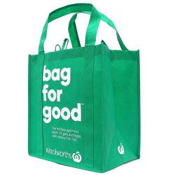 Barato por grosso Eco reutilizáveis reciclado grande laminado de grande capacidade de costura Alimentos Saco de entrega para bolsas de tecidos