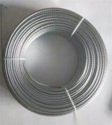 Uso ad alta resistenza di qualità della fune metallica dell'acciaio inossidabile 1X19 di AISI 316 per estrazione mineraria generale di ingegneria di industria fatta in Cina