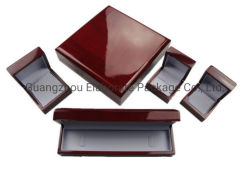 Cereza brillante elegante niñas Piano de madera de caoba joyas embalaje Expositor