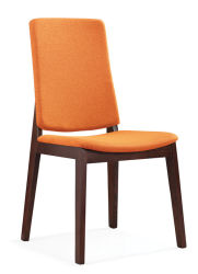 Современная мебель дизайн роскошные ткани красоты деревянный обеденный зал ожидания стул D1804A