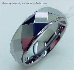 고광택 다각형 텅스텐 카바이드 링 다이아몬드 패턴