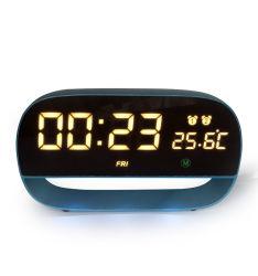 O LED multicolorido luz nocturna digital LED Desktop Despertador com sensor de toque e a soneca