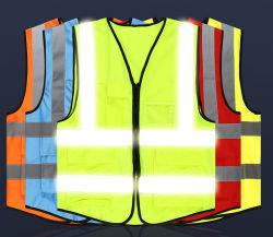 A segurança no trânsito colete reflector de luz fluorescente para os trabalhadores no exterior