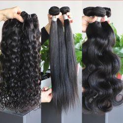 生死の自然な毛の wigs は未加工のカンボジアの毛の成長を卸しで