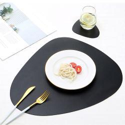 Cuir synthétique European-Style Heat-Insulating Récapitulatif de fonctionnement, table ovale et antidérapant Oil-Proof bol de la plaque de l'Ouest mat, mat Coaster
