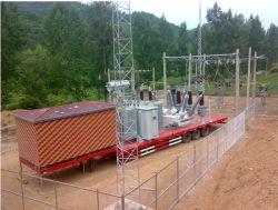 2半トレーラーの移動式サブステーション(トラックのない1つの66のKvのGIの入力および1の20のKvのGIの入力金属機構の230/66/20) Kv