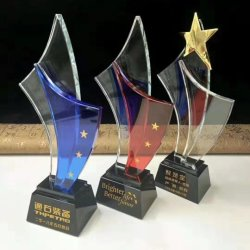 2019 Hot Sale K9 trophée de cristal pour cadeau souvenir