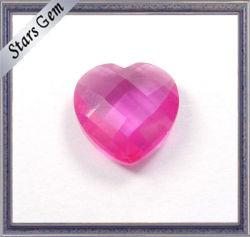 Comprobador de rosada en forma de corazón Cut Glass Bead