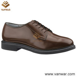 Slijtvaste Brown Military Officer Shoes voor Men (WMS003)