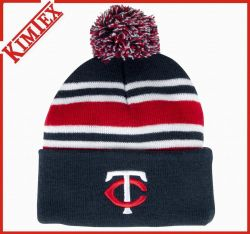 編まれたアクリルのTemのロゴの刺繍の昇進のがっしりした帽子