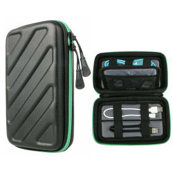 旅行電子工学のアクセサリのエヴァケーブルの記憶の小道具袋USBケーブルのオルガナイザーの例
