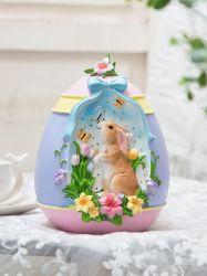 Polyresin/regalo di Pasqua della decorazione della casa della scultura coniglio della resina