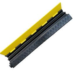 precio de fábrica la chaqueta amarilla de alta calidad de 2 canales de cable de la cubierta de caucho Protector de la rampa