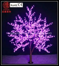 Arbre de pêchers en fleurs de lumière à LED