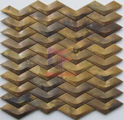Métal Forme d'onde faites de cuivre de style mosaïque (CFM976)