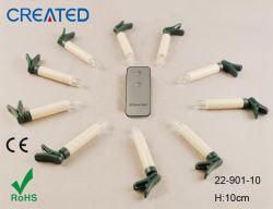 Hot 10P/S llevado árbol vela Stick con control remoto