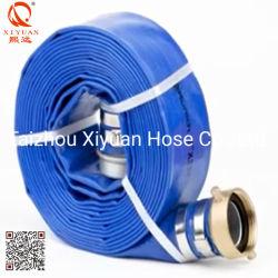 PVC de alta presión de 2 pulgadas de la manguera de descarga Layflat con conector