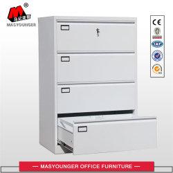 Utilisation de bureau juridique et de stockage de fichiers de format Lettre 4 tiroirs d'acier latérales Classeur métallique