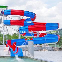 La fibra de vidrio en espiral abierta tobogán de agua para el parque acuático de diversiones al aire libre