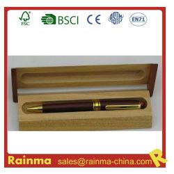 Металлические перья из дерева в деревянных Дар поля используются для подарки и использования в офисе