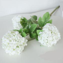 Venda por grosso de Hortênsia Seda Cabeças de flores artificiais Decoração de parede Wedding