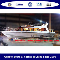 Bestyear 13.8m Fiberglass Sea Coast High Speed 1380f Passenger Boat 34 ~ 50 名まで宿泊可能なラグジュアリーヨット