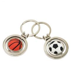 كرة احترافية مبتكرة قابلة للتخصيص كرة باردة معدنية كرة الطائرة كرة القدم فريق سلسلة مفاتيح النادي