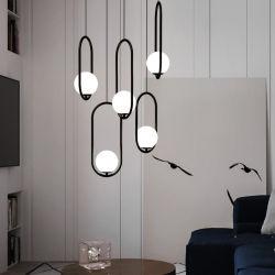 LED 모던 장식 유리 샹들리에 천장 호텔 실내 행잉 펜던트 램프