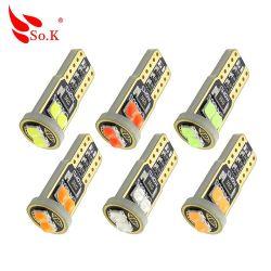 So. K Venda Quente Auto lâmpada LED T10 LEVOU W5W 194 4014 15 LED SMD T10 Canbus luz interior para o carro da Placa de Licença