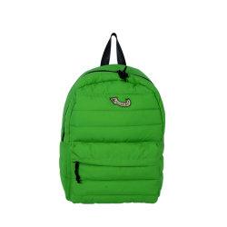 Unisex de moda Double-Shoulder verde mochila de nylon impermeable