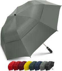 Forte ombrello piegante portatile surdimensionato con il grande doppio baldacchino scaricato antivento - ombrello di golf della famiglia - pieghevole ad appena 23 pollici