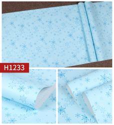 Schnee-Blatt-Qualität Belüftung-wasserdichte Papierwand-Kunst-umweltfreundliche dekorative Tapete