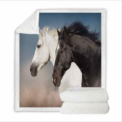 Используйте 3D-печати лошадь зимой шерпа одеяло, а также подходит для весны и осени