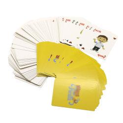 بطاقة الرسوم المتحركة المخصصة لعبة نمط الحيوانات بوكر لعب بطاقات مع طباعة بطاقات الألعاب على الوجهين