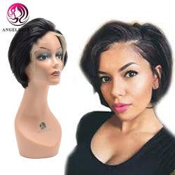 13X4 delantera de encaje Cabello Bob frontal recto corto peluca pelucas de encaje negro natural pelucas para las mujeres negras de diseño