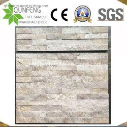 China-natürliche Riss-Oberflächen-beige Travertin-Wand-Kultur-Stein