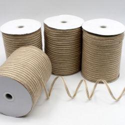リボンの麻ひもDIY麻ロープ釣DIY手動綿およびラミーの糸によって編まれるリボンの工場中国Experが付いている手動釣ワイヤーが付いている麻布を販売する製造業者